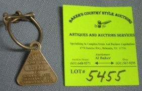 Early Monarch Life Insurance Advertising Watch Fob