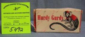 Hurdy Gurdy Wind Up Music Box In Its Original Box
