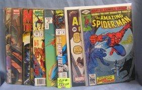 Group Of Vintage Marvel Spiderman Comic Books