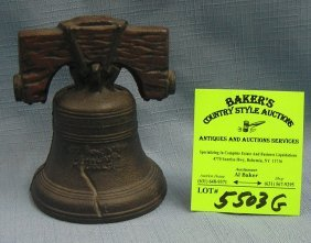 Cast Iron Liberty Bell Bank