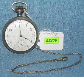 Antique Elgin Coin Silver Pocket Watch