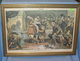 Antique Political Print Circa Late 19th Century