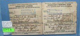 Early 2 Piece Driver's License