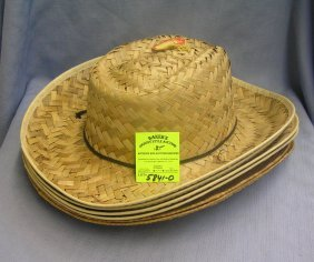 Group Of 6 Vintage Straw Hats
