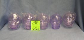 Group Of Hanging Skull Candy Containers