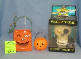 Group Of 3 Vintage Halloween Decorations