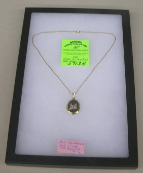Bell Telephone Co. Employee Award Necklace And Locket