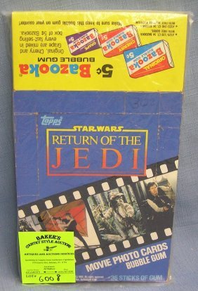 Group Of Vintage Star Wars Movie Card Boxes
