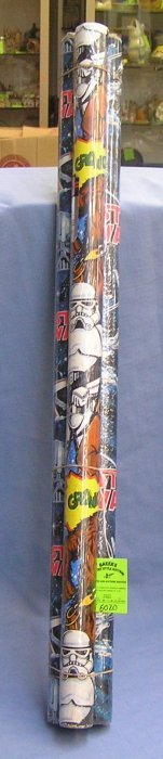 Group Of Three Vintage Star Wars Gift Wrap Rolls