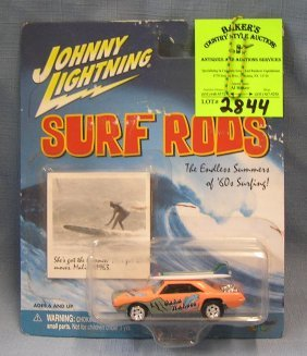 Johnny Lightning Hot Rod Car With Surf Boards