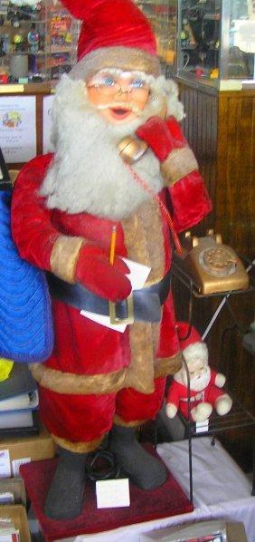 Large Macy's Animated Santa Claus