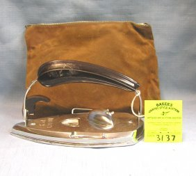 Antique Electric Iron With Bakelite Handle