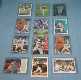 Collection Of Wade Boggs Baseball Cards