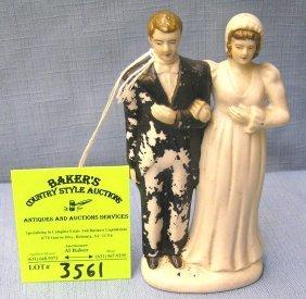Vintage Porcelain Bride And Groom Figure
