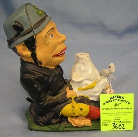 Patty And The Pig Cast Iron Mechanical Bank