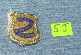 Ny City Policeman's Conference Wallet Badge