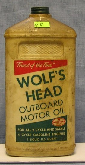 Wolf's Head Outboard Motor Oil Container