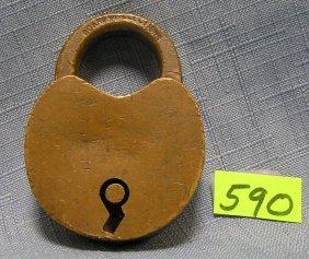 Antique Brass Pad Lock