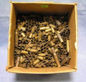 Large Box Of Vintage Brass Ammo Shells