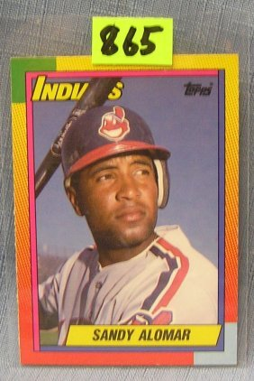 Vintage Sandy Alomar Rookie Baseball Card
