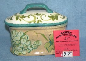 Caesar's Paint Decorated Jewelry Or Trinket Box