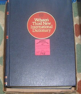 Webster's Third New International Dictionary