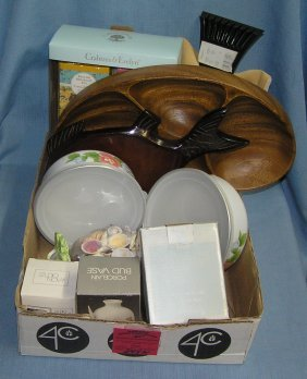 Box Full Of New Gift And Decorative Items