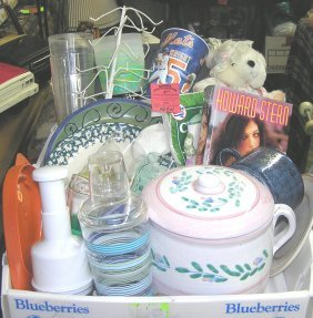 Large Box Full Of Estate Collectibles