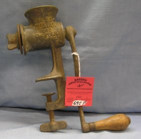 Antique Cast Iron Food Grinder # 50 By Climax