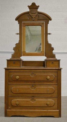 Vintage Eastlake Gentleman S Dresser With Mirror Lot 1