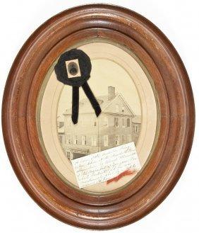 Elmer Ellsworth Period Mourning Display