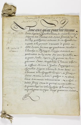 17th-century French Legal Document