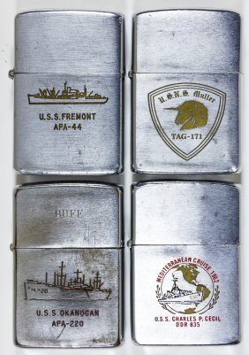 (zippo Lighters) Transport Vessels And Destroyer (4)