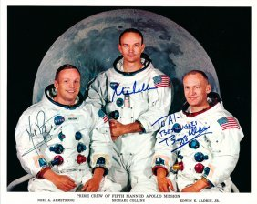 Apollo 11 Crew-signed Photograph