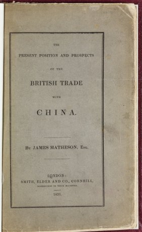 """(china) """"the Present Position And Prospects Of The"""