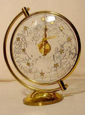 LeCoultre 16 Jewel Zodiac Clock NR