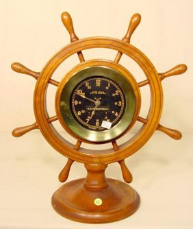 Seth Thomas 8 Day Brass Ships Bell Clock NR