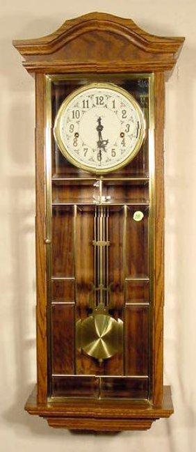 Ansonia Gold Medallion Chiming Wall Clock NR