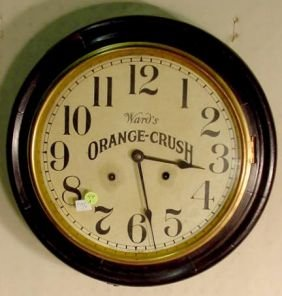 Ingraham Orange Crush Gallery Clock NR