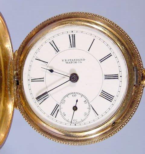 2198: New York Standard Watch Co. Pocket Watch : Lot 2198