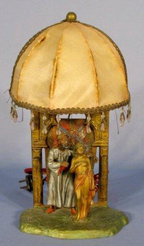 Austria Bronzed Man & Nude Slave Electric Lamp