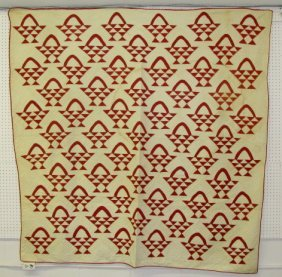 Full Size Geometric Baskets Summer Quilt