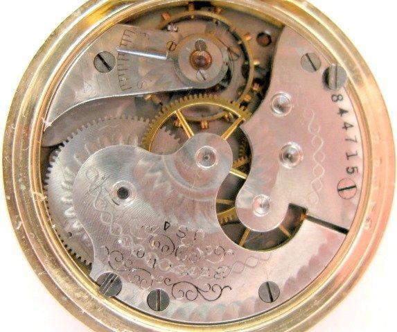 123  u s  waltham 7j 0s betsy ross pocket watch   lot 123