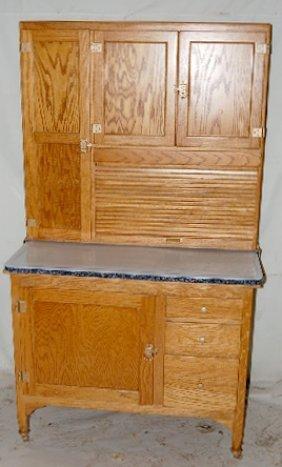 Sellars Oak 2 Piece Roll Front Kitchen Cupboard
