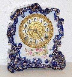 "Gilbert ""No. 425"" Blue China Case Clock"
