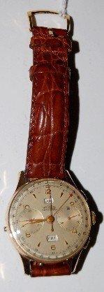 Angelus 17J Triple Date Chronograph Wristwatch