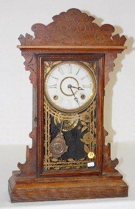 """E.N. Welch Black Walnut """"Valda"""" Kitchen Clock"""