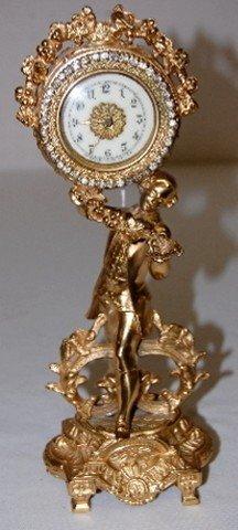 Waterbury Metal Novelty Gentleman Dresser Clock