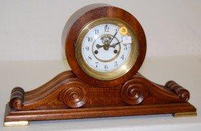 "Waterbury ""Kent"" Scroll Case Mantel Clock"