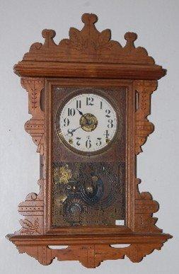 Seth Thomas Walnut T & S Hanging Clock